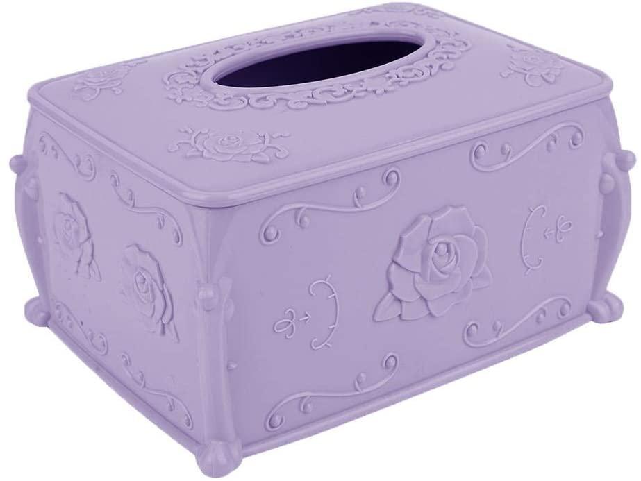 Jadeshay Tissue Holder - Tissue Paper Holder Box - Tissue Box for Bathroom Livingroom Decor(Purple)