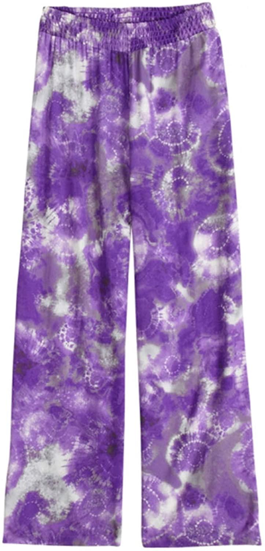 Justice Girls Printed Wide Leg Casual Trouser Pants