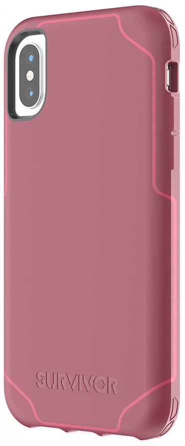 Survivor Strong Case Compatible with iPhone X (Dark Red)