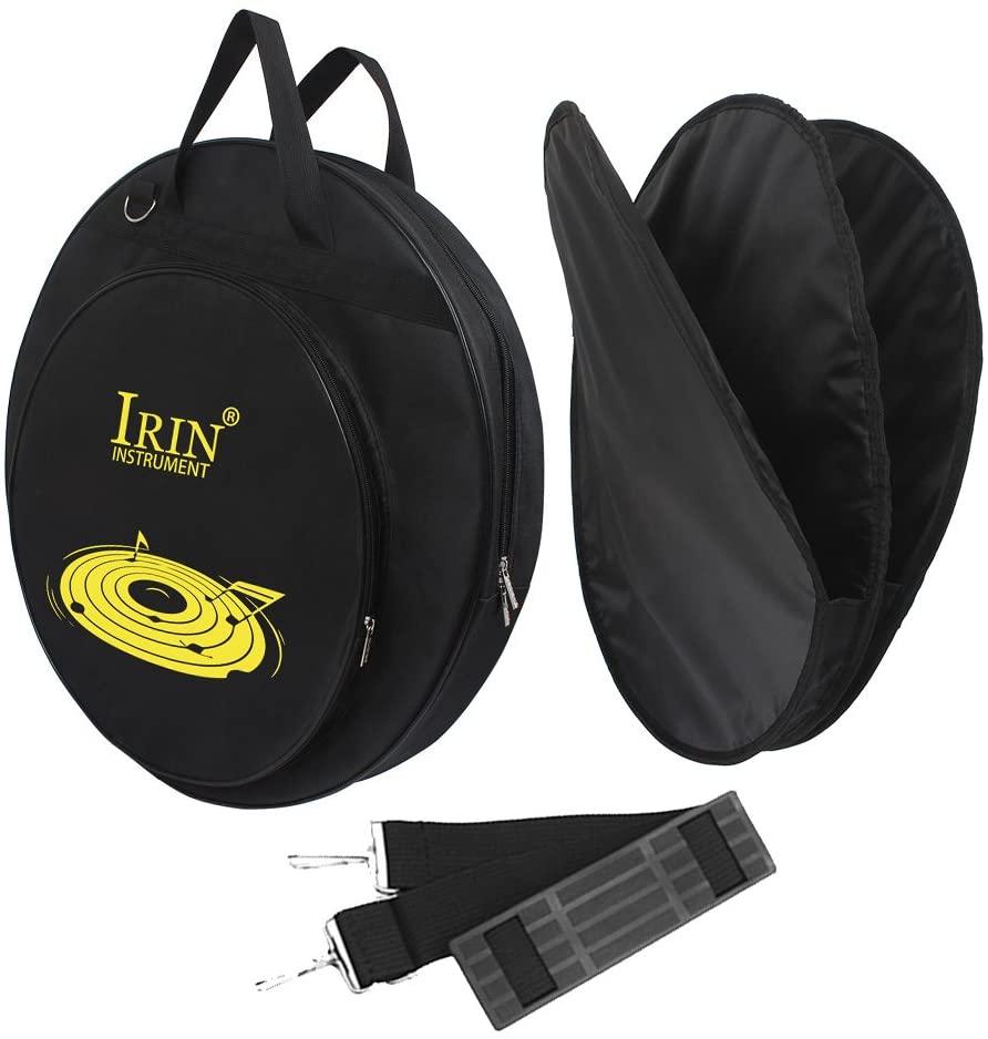 21-Inch Cymbal Bag Backpack Handbag Three Pockets Backpack with Removable Divider Shoulder Strap