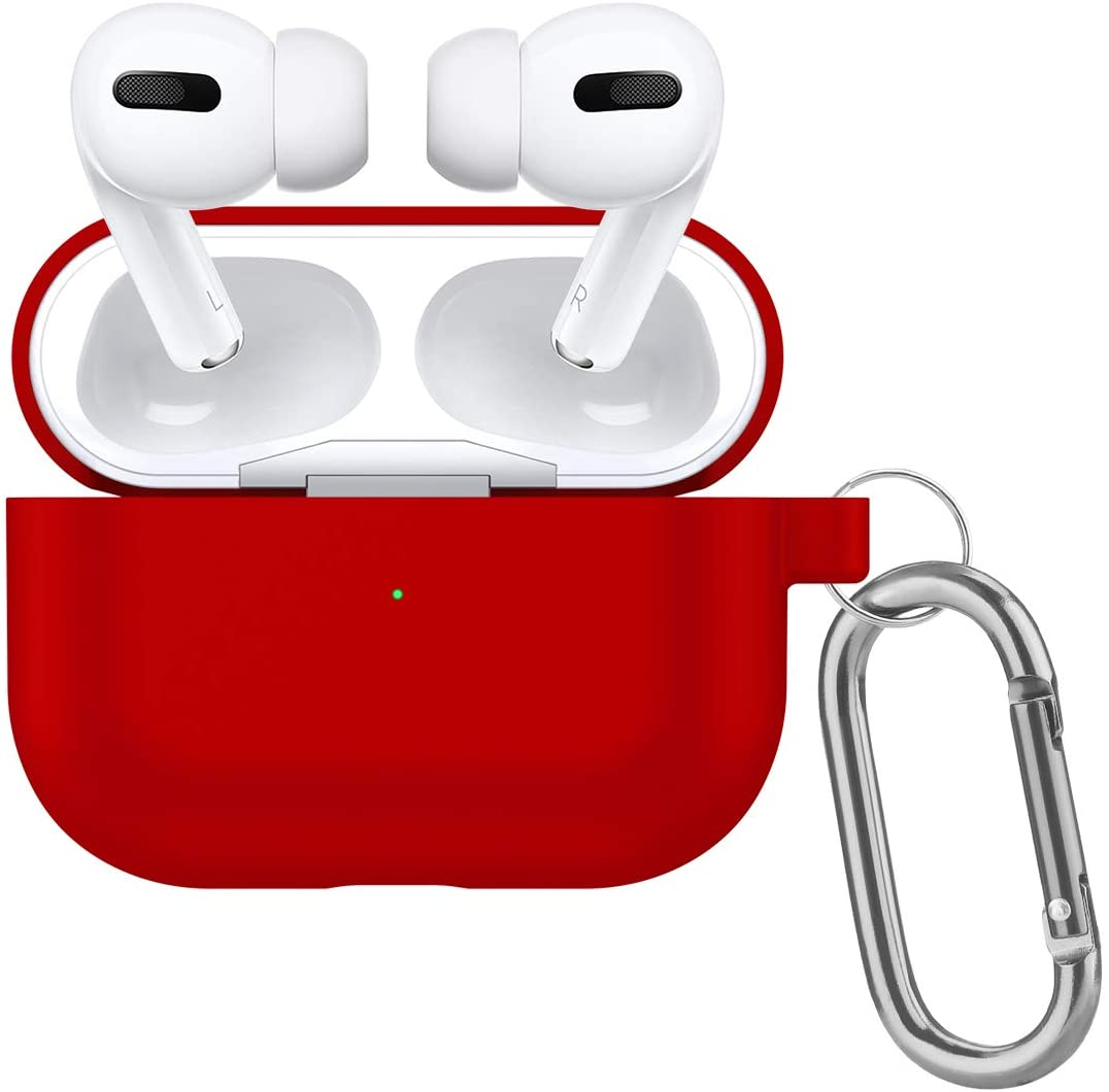 Kcomotee New AirPods Pro Case 2019 Phone Case Soft Silicone/Dust-Proof, Durable Protective Case (Red)