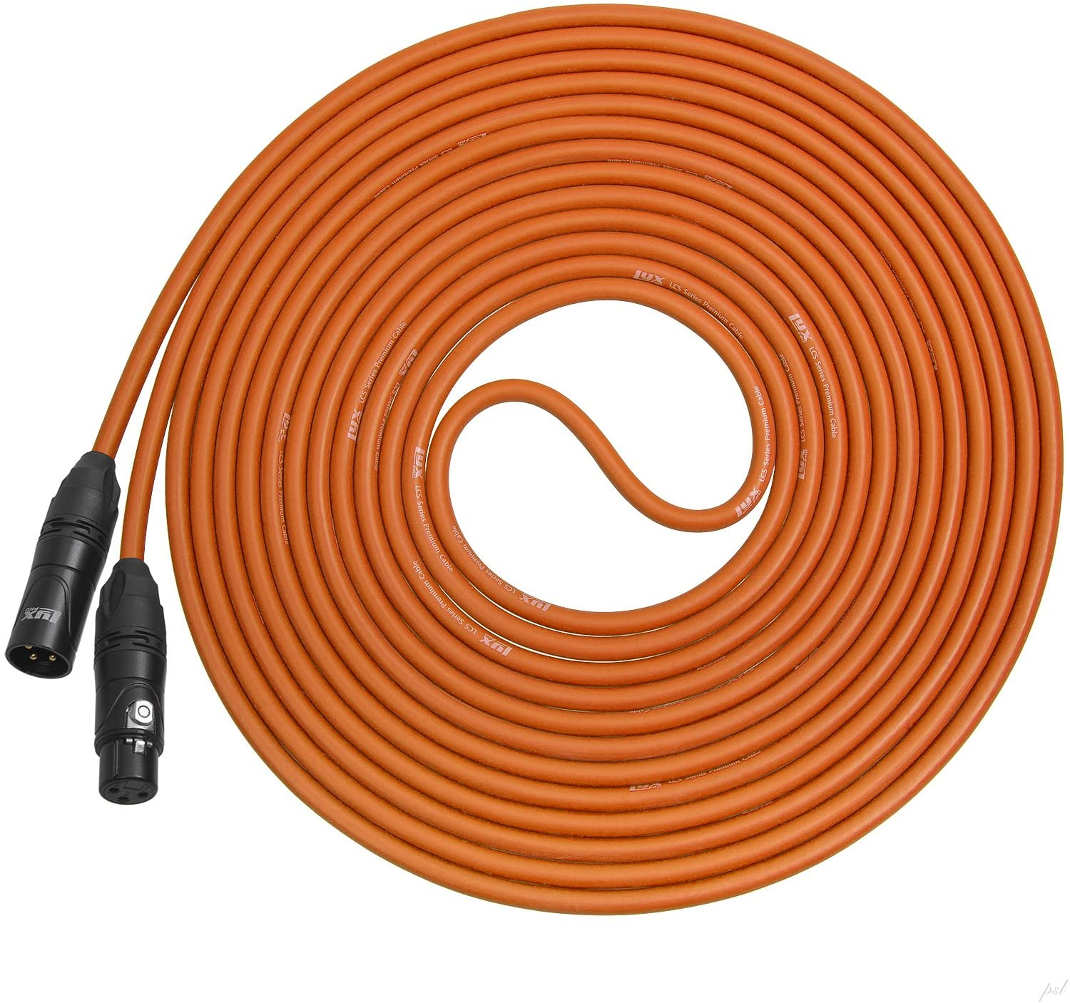 LyxPro 30 Feet XLR Microphone Cable Balanced Male to Female 3 Pin Mic Cord for Powered Speakers Audio Interface Professional Pro Audio Performance and Recording Devices - Orange