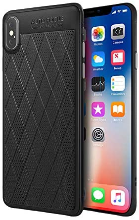 Qcasenice Xsmax Case Compatible with Apple iPhone Xs Max Cover IP Iph Luxury 10max X S SX Mas Xmax xmaxs Hard Shcokproof Bumper Coque Soft PU Coque Fundas 6.5 Inch (Black)