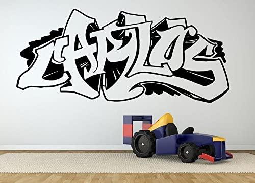 Wall Room Decor Art Vinyl Sticker Mural Decal Carlos Graffiti Name Poster Kids Bedroom Nursery Boy Playroom AS2710