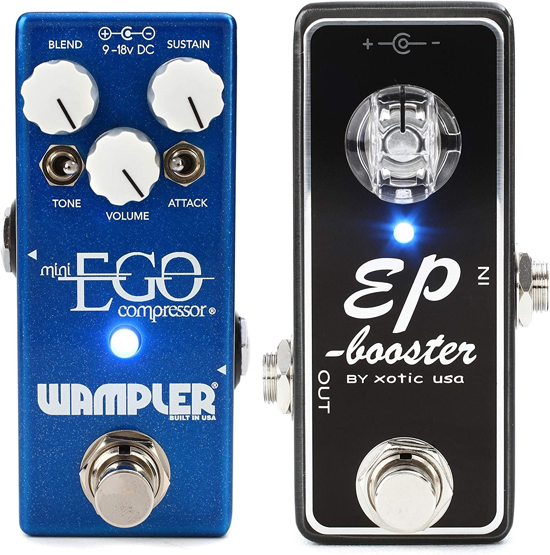 Wampler Mini Ego Compressor Pedal + Xotic EP Booster Mini Boost Pedal Value Bundle
