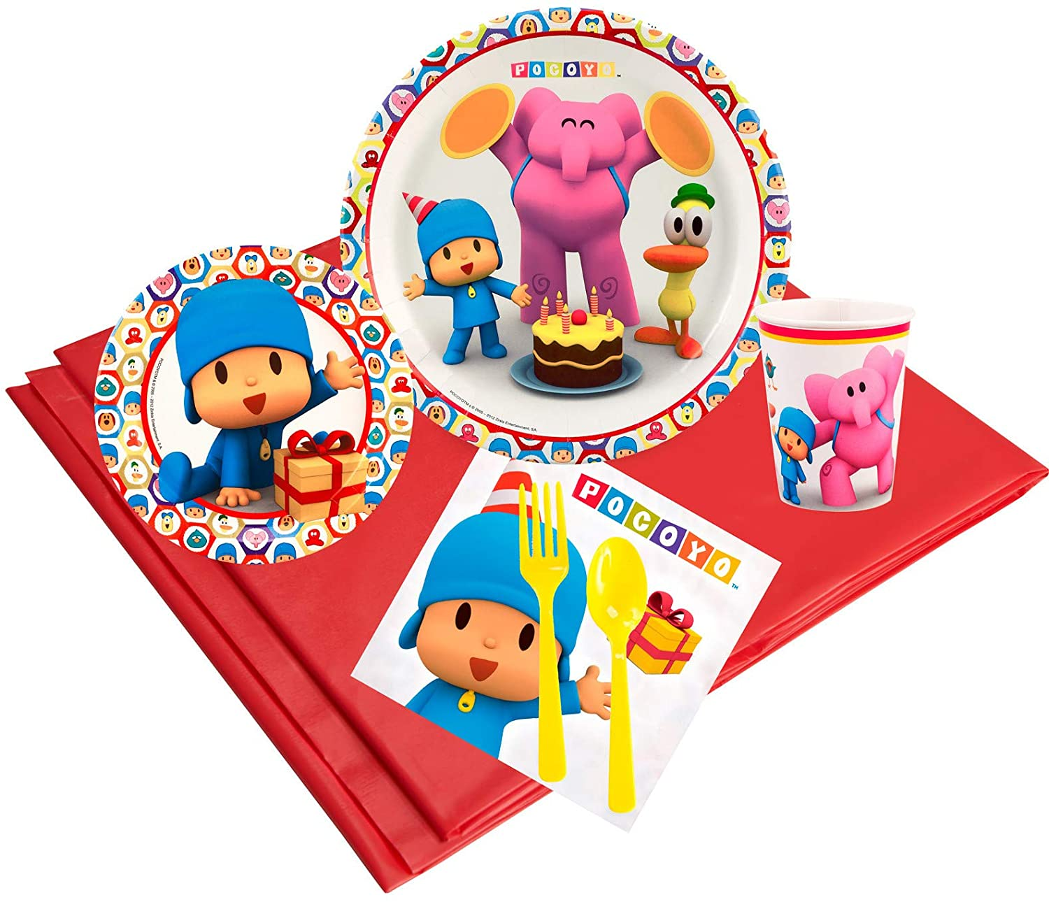 BirthdayExpress Pocoyo Children's Birthday Tableware Party Pack for 24 Guests, Multi-colored, One Size