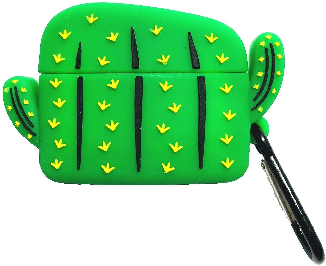 AirPods Pro Case, Cute Cactus Design Silicone Case for AirPods Pro, Shockproof Protective AirPods Pro Case Cover with Keychain