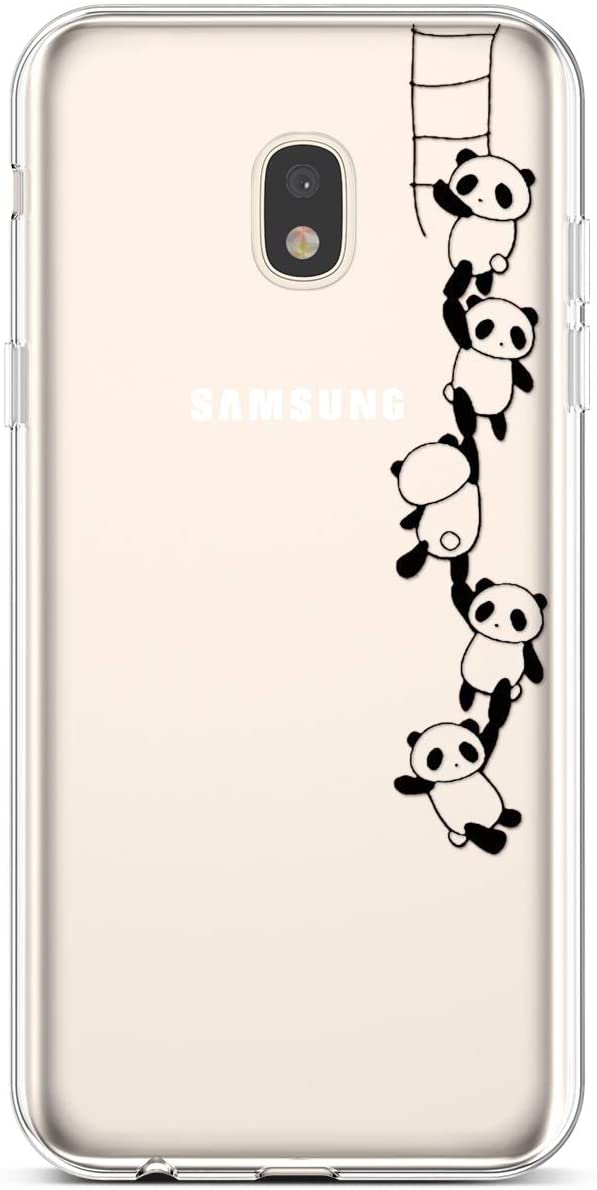PHEZEN for Samsung Galaxy J7 2018 Case,Galaxy J7 Refine Case,Galaxy J7 Star Case,J7 Crown Case,J7 Aura Case,Amusing Whimsical Crystal Clear Silicone TPU Bumper Case,Panda