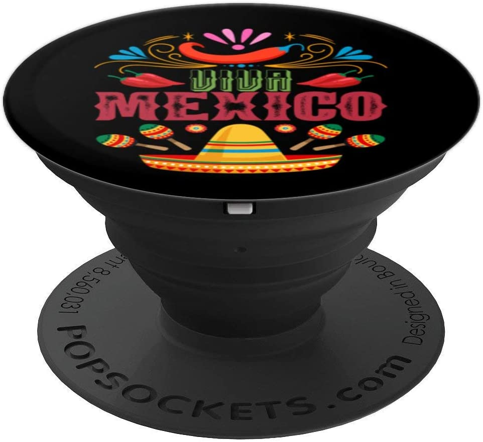 Jalapenos Sombrero Mexican Flag Maracas Mexico PopSockets Grip and Stand for Phones and Tablets