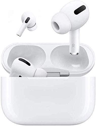 Bluetooth 5.0 Wireless Earphones Headphones 3D Stereo CVC8.0 Noise Canceling True Wireless Earbuds with Fast Charging Case,One-Step Pairing for iPhone/Android AirPods Pro Ear Bud White