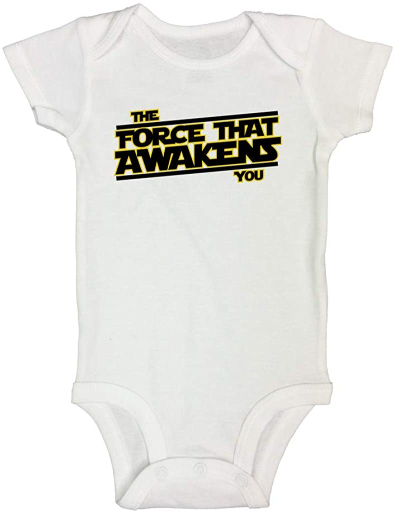 Cute Baby Bodysuit The Force That Awakens You Movie Bodysuits and Shirts - Little Royaltee 12-18 Months, White
