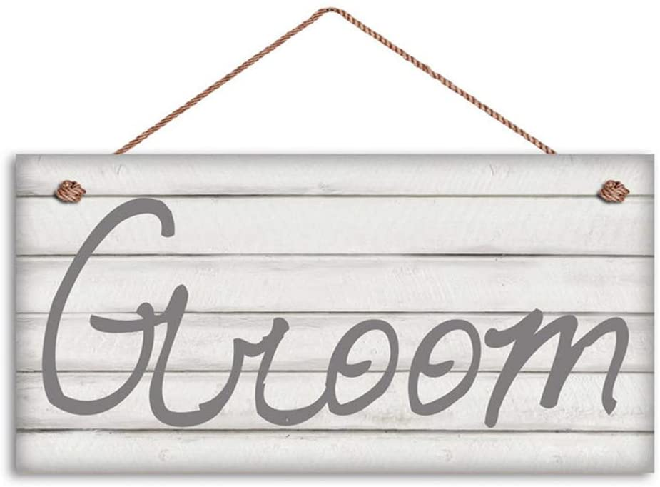 MAIYUAN Bride and Groom Signs, Wedding Sign, Shabby Chic Wood, Mr. and Mrs, 6