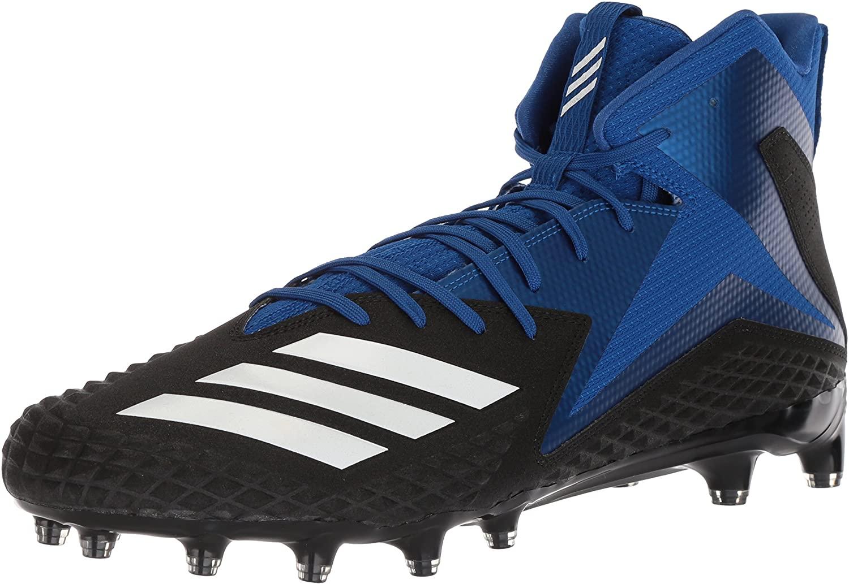 adidas Men's Freak X Carbon Mid Football Shoe, Black/White/Collegiate Royal