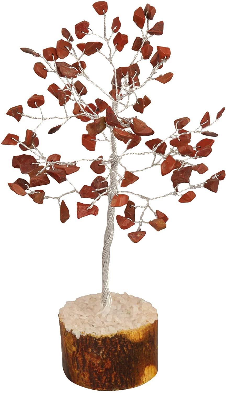 YATSKIA Red Jasper Gemstone Tree Feng Shui Bonsai for Crystal Energy Generator Chakra Balancing Reiki Healing Emf Protection Money Home Decor Size: 7-8 Inch