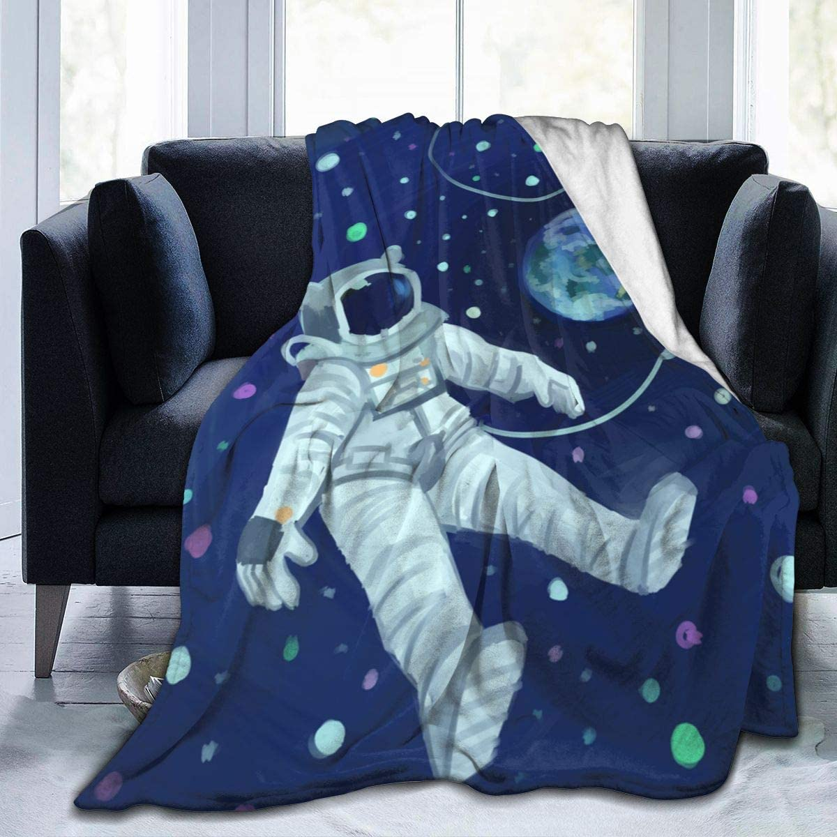 Blanket Throw Outer Space Décor Cute Inspirational Posters Flannel Lightweight Super Soft Cozy Luxury For Kids Adults All-Season Bed Sofa Couch Car Air Conditioning 50