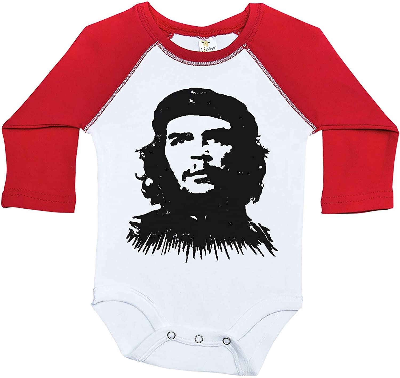 Che Guevara Raglan Onesie, Che Guevara, Baby Onesie, Long Sleeve Onesie