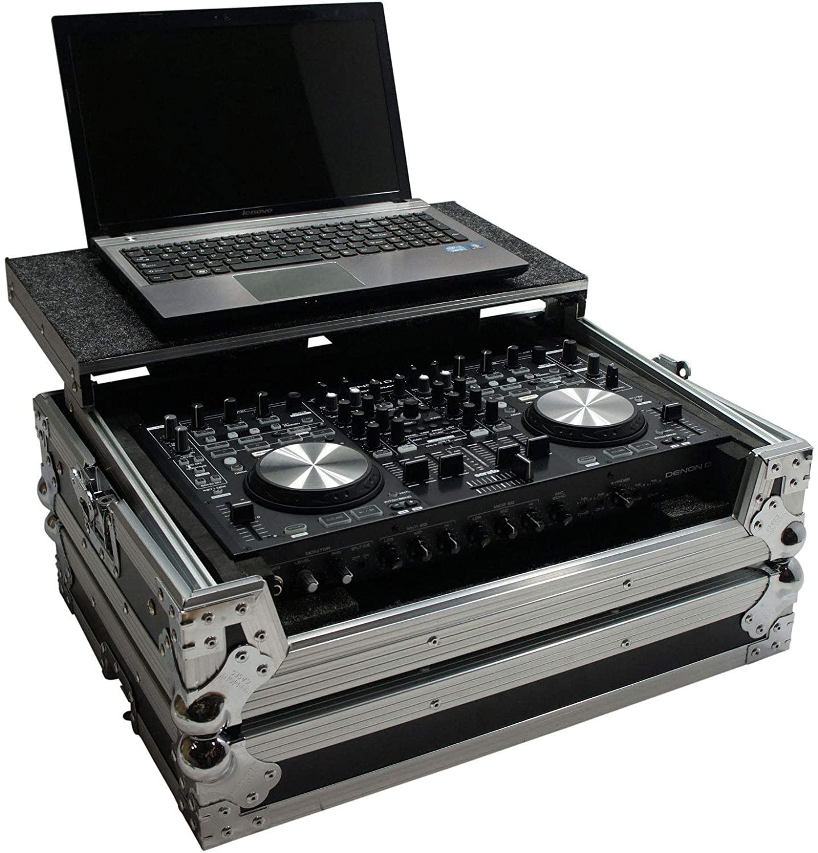 Harmony HCDNMC6000LT Flight Glide Laptop Stand DJ Case Compatible with Denon DN-MC3000 New