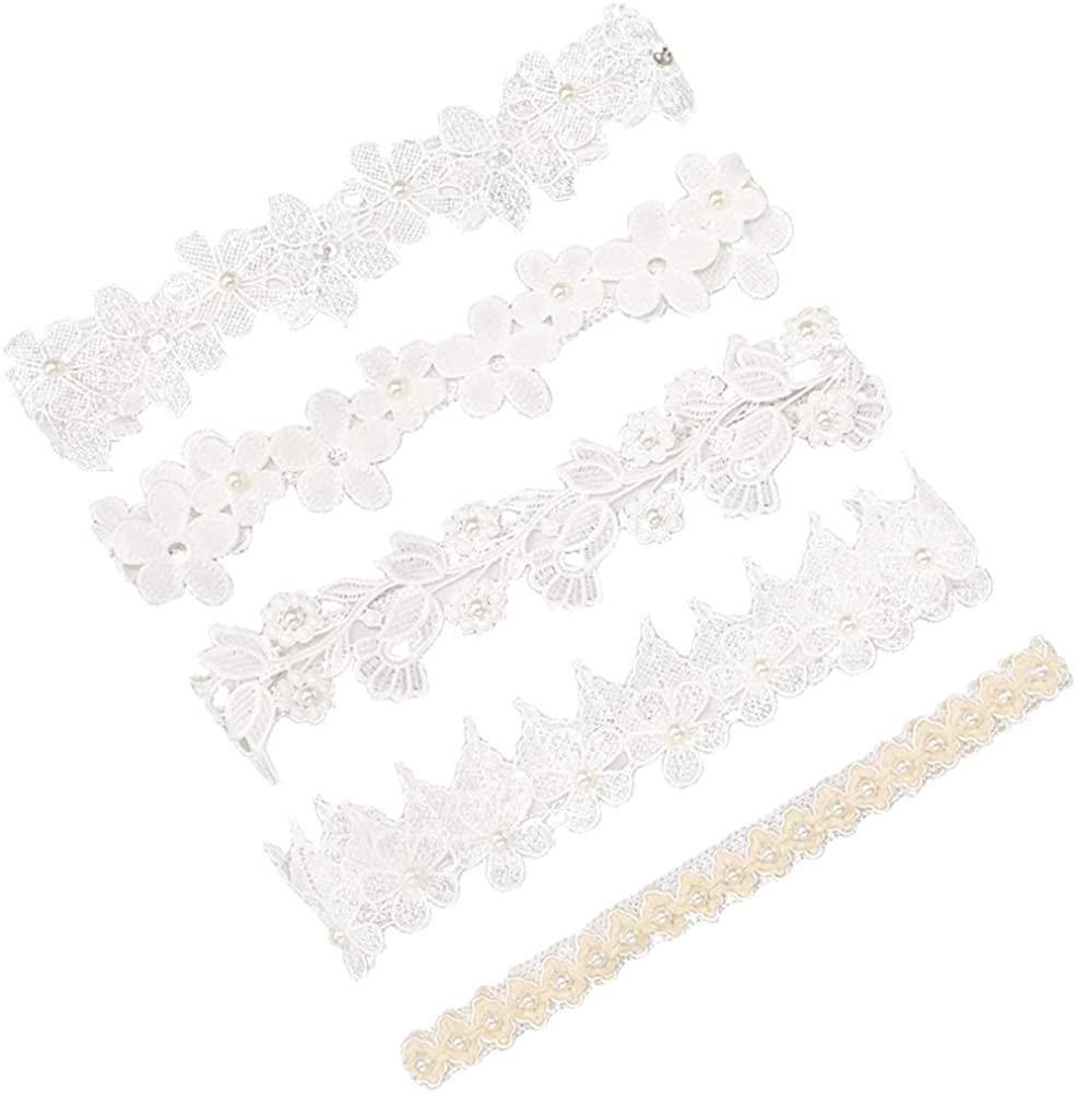 Baby Headbands baptism Girls Newborn Lace Pearl Headbands Princess Girls Elastic Headwear Flower