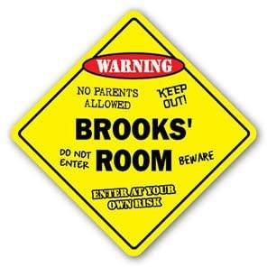 BROOKS' ROOM Sticker Sign kids bedroom decor door children's name boy girl gift - Sticker Graphic Personalized Custom Sticker Graphic