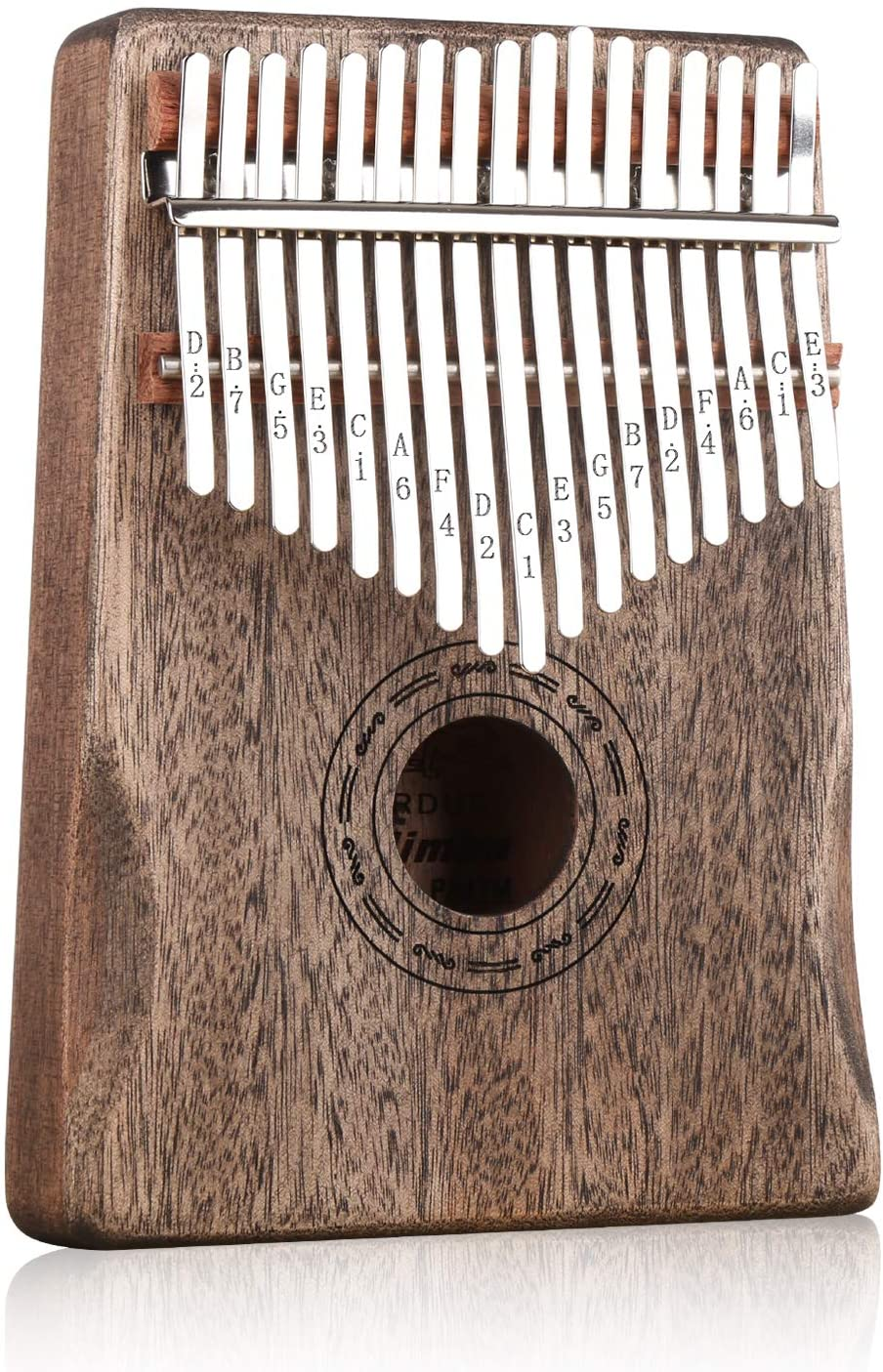 PARDUS Kalimba 17 Keys Thumb Piano with Study Instruction and Tune Hammer, Portable Mbira Sanza African Wood Finger Piano, Gift for Kids Adult Beginners Professional