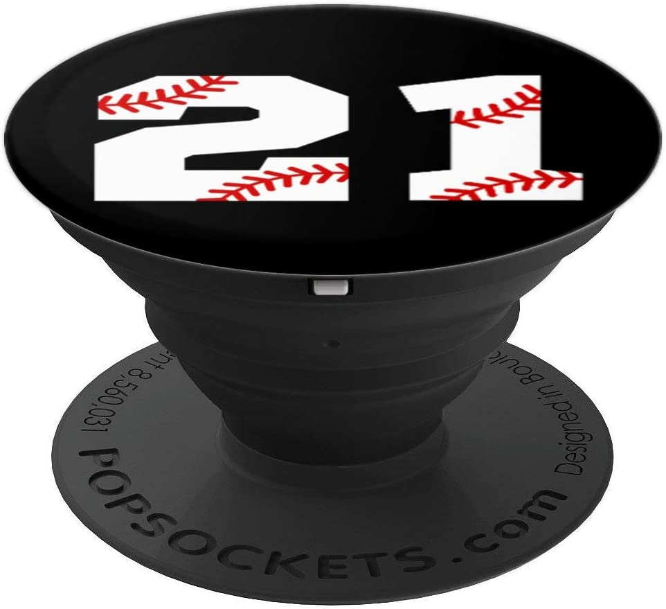 Baseball Popsocket #21 - Baseball Pop Socket - Number 21 PopSockets Grip and Stand for Phones and Tablets