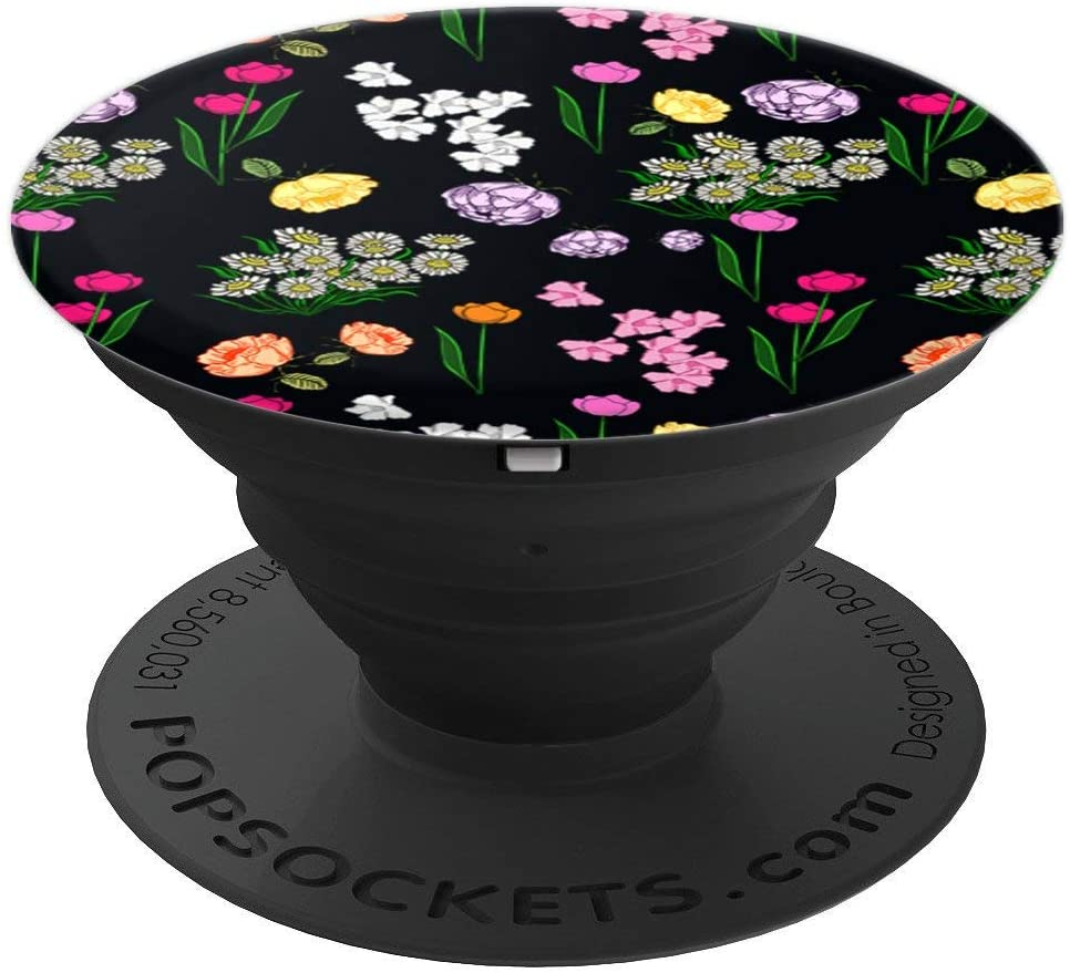 Assorted Flowers Rose Tulip Daisy Peony Floral Florist Gift PopSockets Grip and Stand for Phones and Tablets