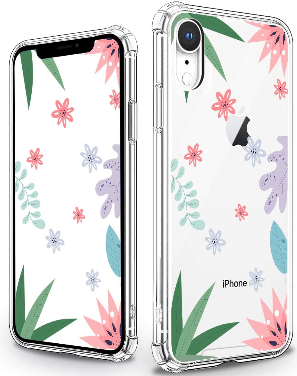 YESPURE Flower iPhone XR Case, Cute Floral Girls and Women Back Cover, Shockproof Hard PC Back Case with Slim TPU Bumper Wild Flower Phone Case for iPhone XR - Cute Floral