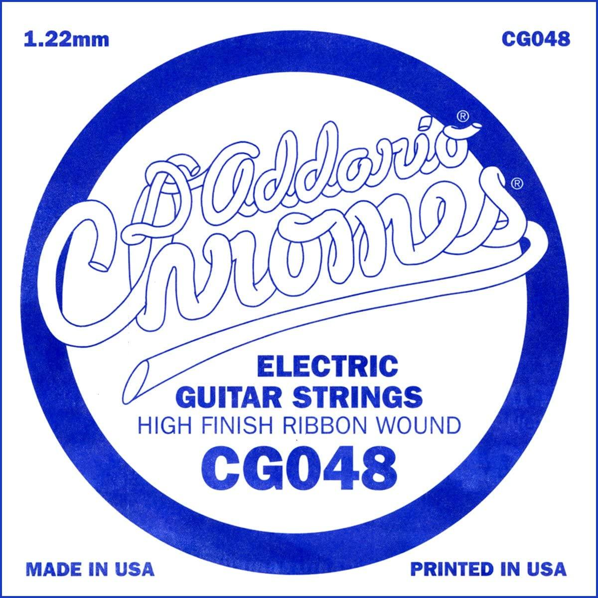 D'Addario CG048 Flat Wound Electric Guitar Single String, .048