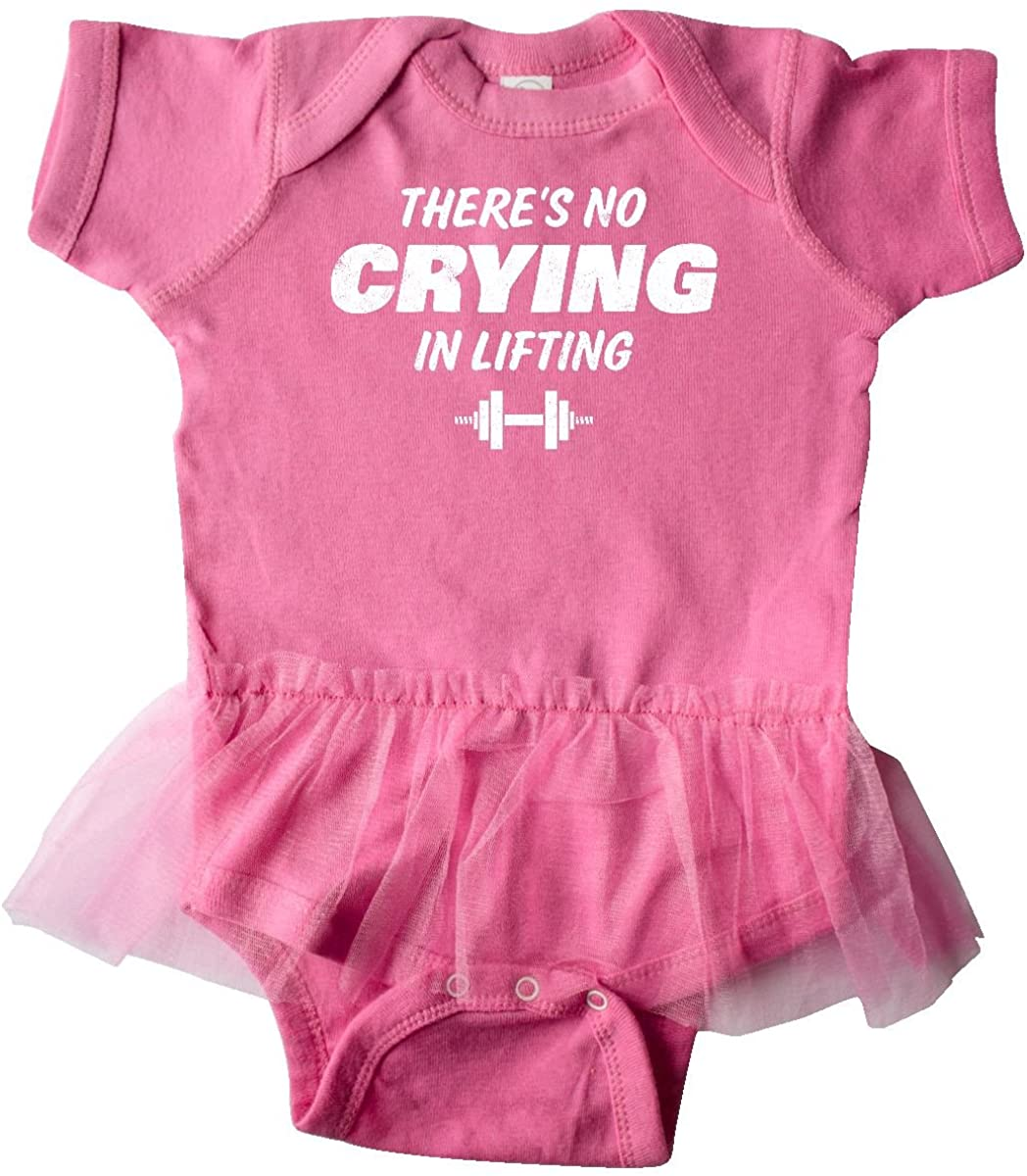 inktastic No Crying in Lifting Infant Tutu Bodysuit