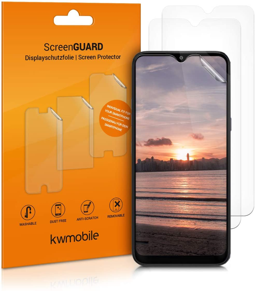 kwmobile Set of 3 Screen Protectors Compatible with LG K41S - Crystal Clear Display Film Protector Pack for Mobile Cell Phone