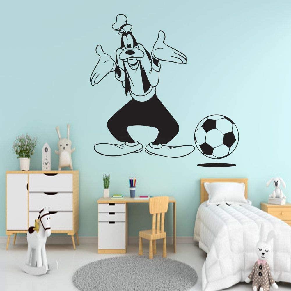 Goofy Dog Soccer Mickey Mouse Friends Disney Cartoon Wall Sticker Art Decal for Girls Boys Kids Room Bedroom Nursery Kindergarten Fun Home Decor Stickers Wall Art Vinyl Decoration Size (20x20 inch)