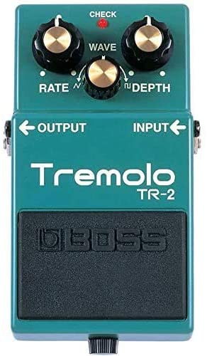 BOSS TR-2 Tremolo Pedal includes Free Wireless Earbuds - Stereo Bluetooth In-ear and 1 Year Everything Music Extended Warranty
