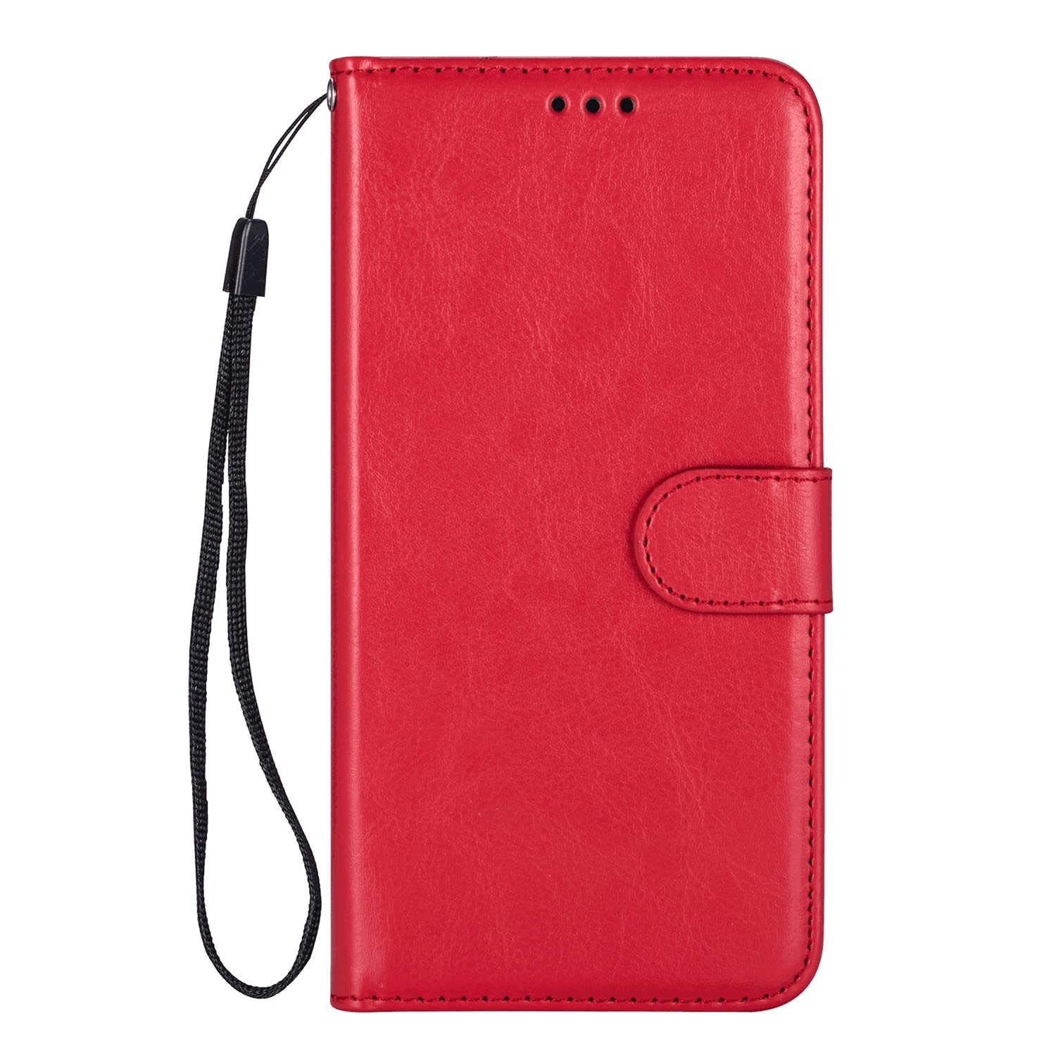 PU Leather Flip Cover Compatible with iPhone 11 Pro, Elegant red Wallet Case for iPhone 11 Pro