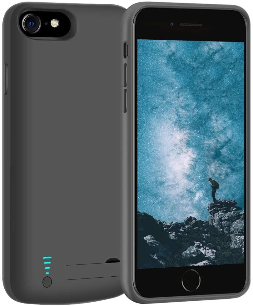 LOYTAL Battery Case for iPhone SE 2020/8 / 7 / 6S / 6, 5500mAh Rechargeable Extended Battery Charging Case, External Battery Charger Case, Adds 2X Extra Juice, Support Wired Headphones
