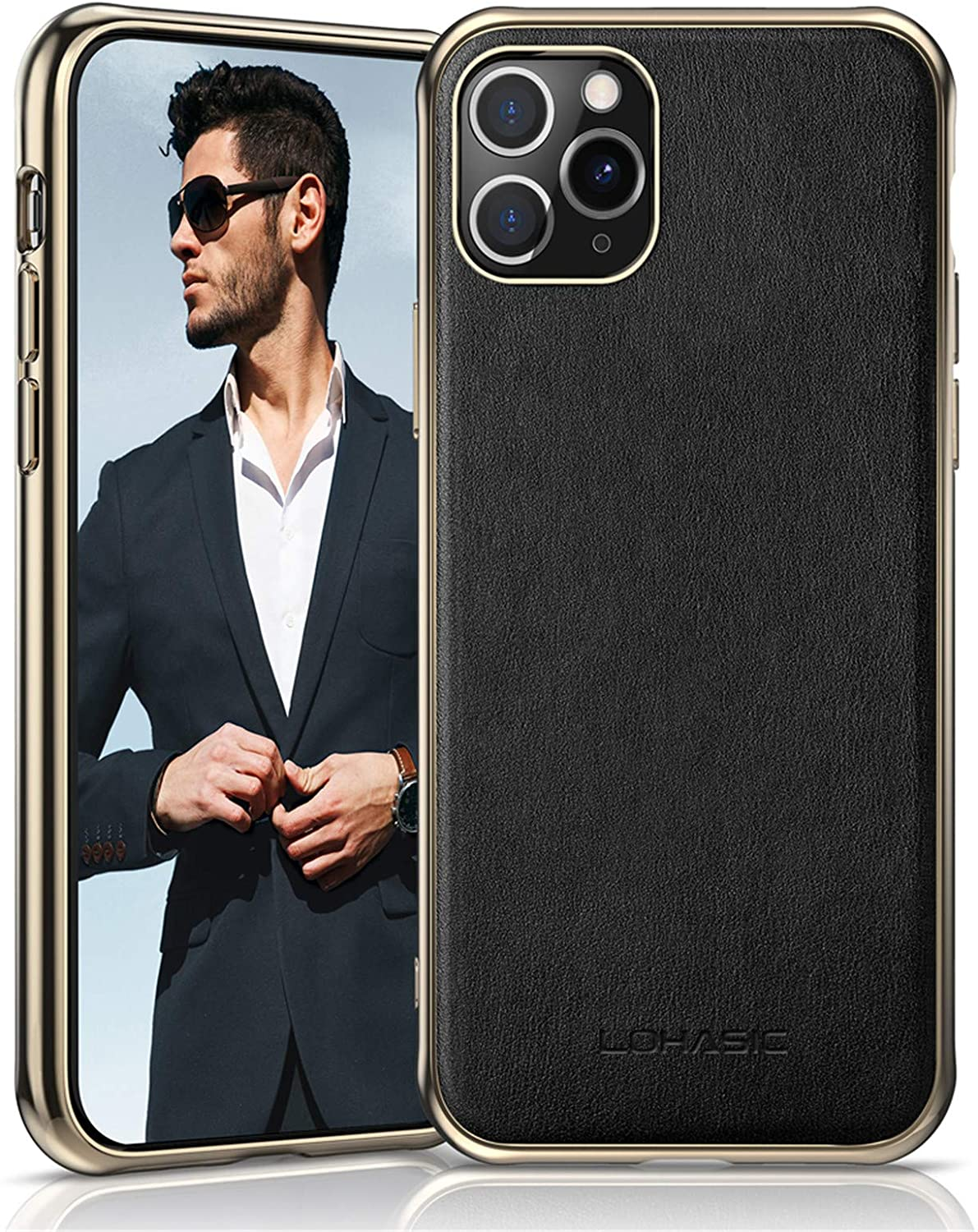 LOHASIC iPhone 11 Pro Max Case, Slim Fit Business PU Leather Elegant High-end Cover Anti-Slip Soft Grip Flexible Full Body Protective Phone Cases for Apple iPhone 11 Pro Max(2019) 6.5
