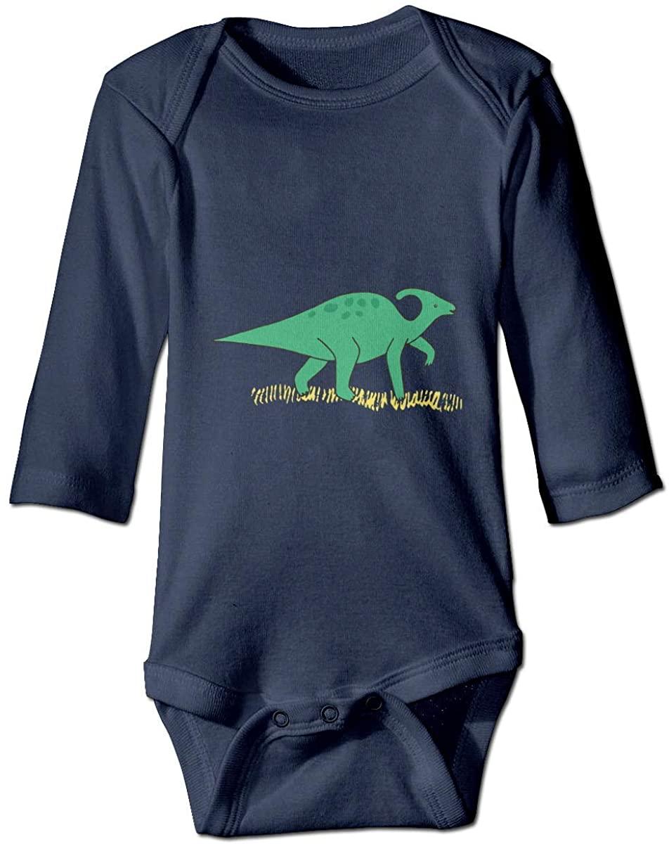 Pengshiliu Green Dinosaur Infant 0-24 Months Months Climbing Long-Sleeve Onesie