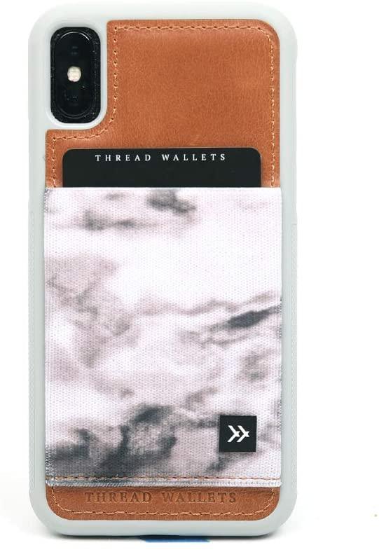 Thread Wallets - Slim Minimalist iPhone Wallet Case - iPhone 10/iPhone X (Marble)