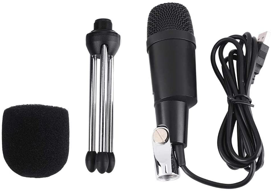 Hopcd Wired Condenser Microphone, Professional Condenser Microphone with Mini Desktop Tripod for Studio/Recording/Conference, Capacitance Microphone (USB)