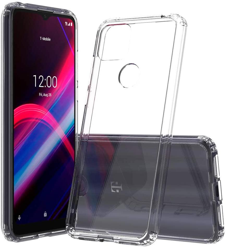 Sucnakp T-Mobile Revvl 4 Plus Case TCL Revvl 4 Plus Case T-Mobile Revvl 4+ Case Premium Clear Back Panel + TPU Bumper Cover for T-Mobile Revvl 4 Plus(YKL Clear)