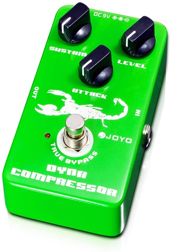 JOYO Dynamic Compressor Pedal with Very Low Noise re-Creation the Classic Ross Compressor for Electric Guitar & Bass True Bypass (JF-10)