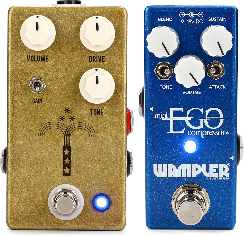 Wampler Mini Ego Compressor Pedal + JHS Morning Glory V4 Transparent Overdrive Pedal Value Bundle