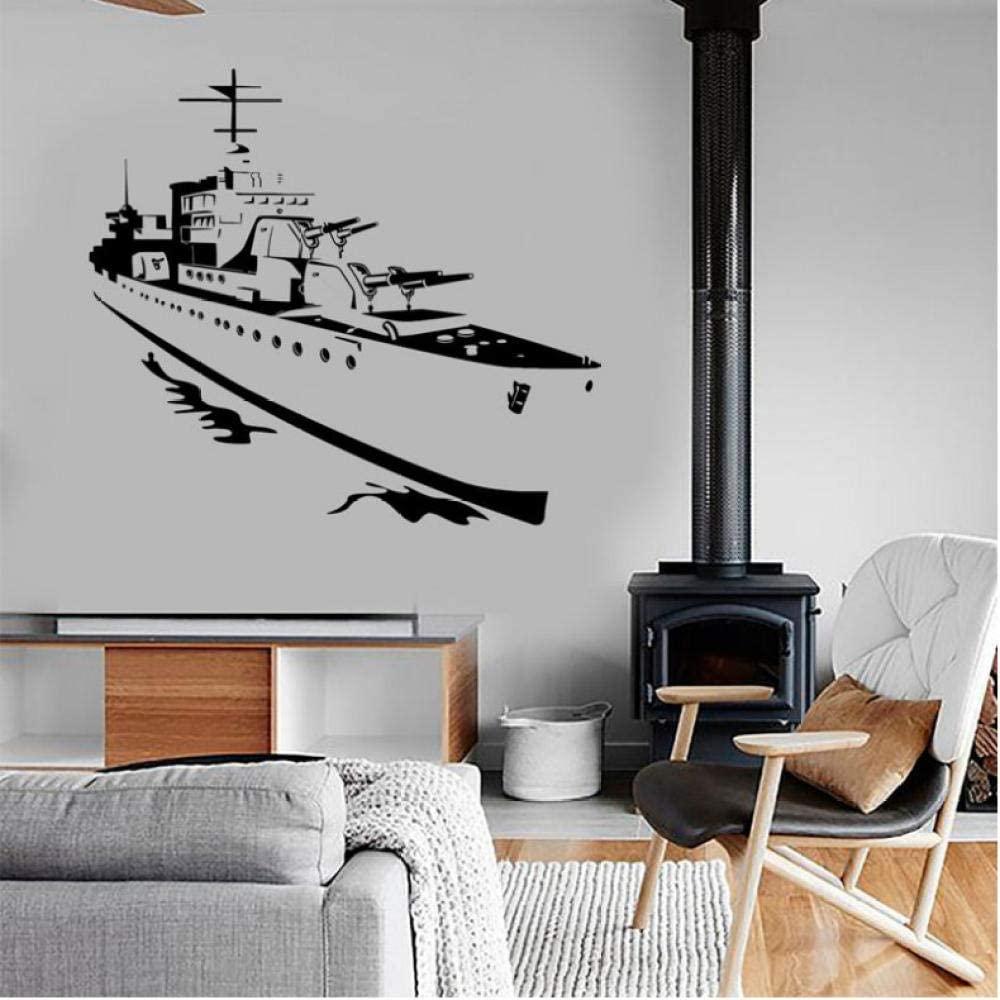 oppsq Marine Aircraft Navy Wall Sticker Vinyl Home Decor Room Interior Decals Kids Room Teens Bedroom Murals Removable 64X57Cm