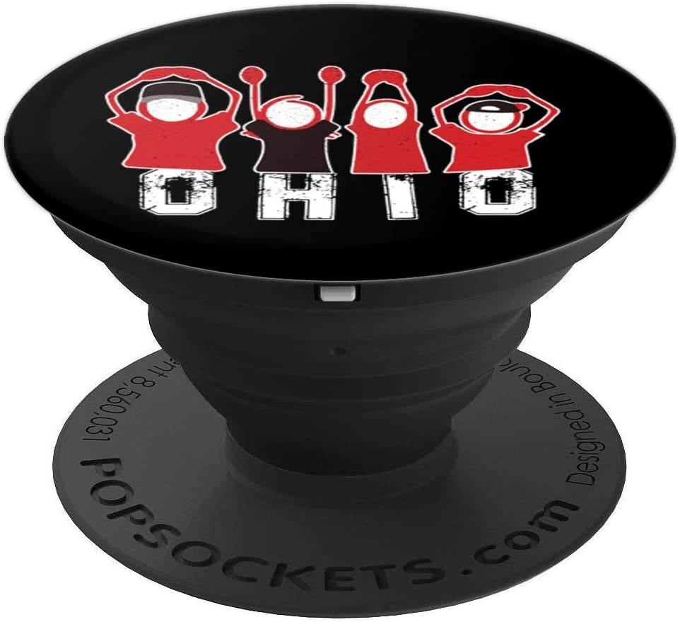 Proud To Be Ohioan Letters Ohio State Sports Football Fan PopSockets Grip and Stand for Phones and Tablets