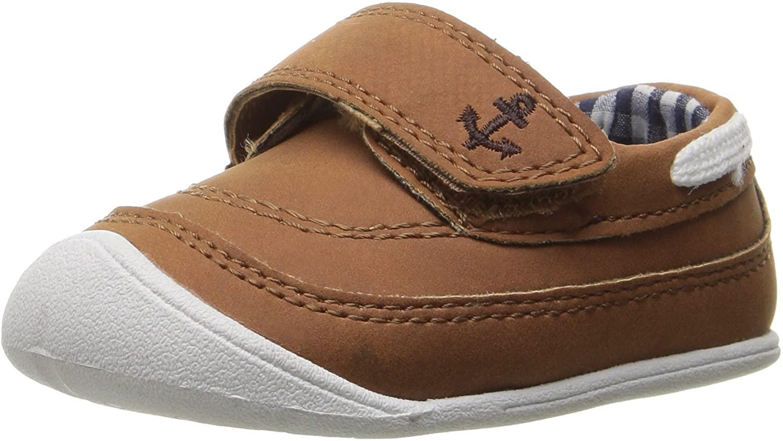 Carters Every Step boys infant 1st walker Finn boat shoe