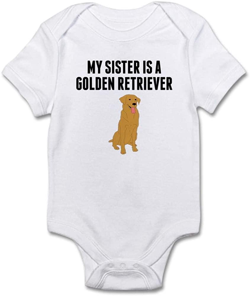 CafePress My Sister is A Golden Retriever Body Baby Bodysuit