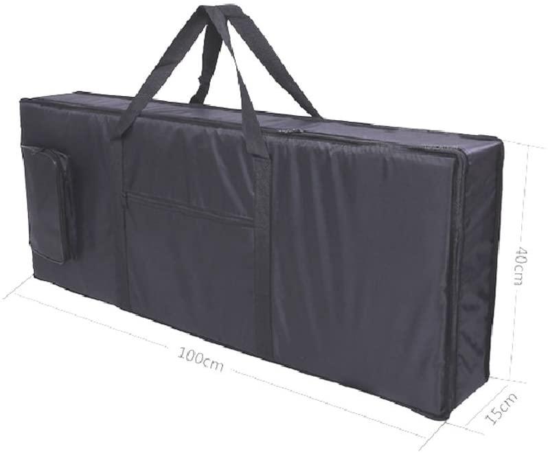 Electric Piano Keyboard Gig Bag Travel Portable Carrying Case Oxford Cloth Adjustable Shoulder Backpack with Strap Black (61 Keys)