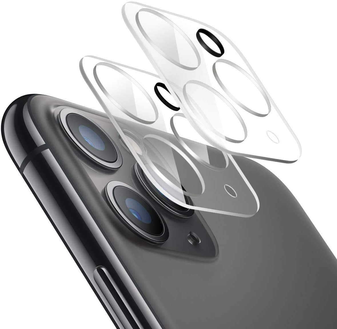 Tuopuna [3 Packs] Camera Lens Screen Protector for iPhone 11 Pro Max, Tempered Glass Film for Apple Lens Screen for iPhone 11 Pro - Clear