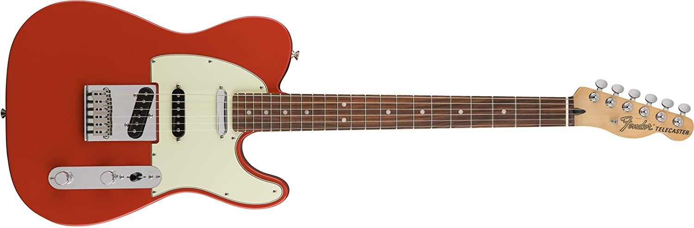 Fender Deluxe Nashville Telecaster Electric Guitar - Pau Ferro Fingerboard - Fiesta Red