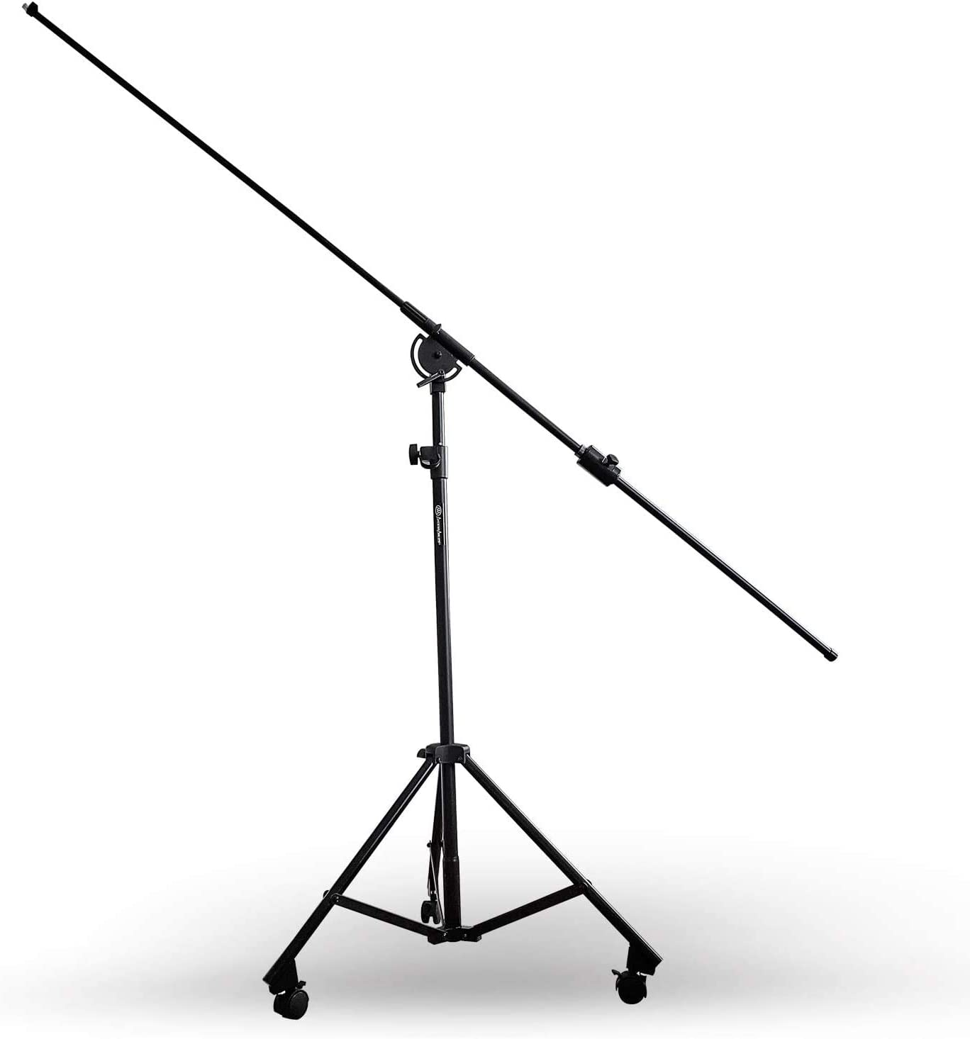AxcessAbles MB-W Professional Studio Microphone Boom Stand with Locking Wheels - Max 8ft Long Extension, 6ft8