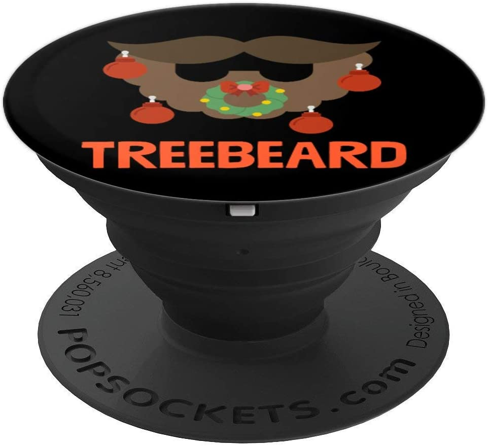 Christmas Tree Beard Funny Xmas Holiday Christmas Humor Gift PopSockets Grip and Stand for Phones and Tablets
